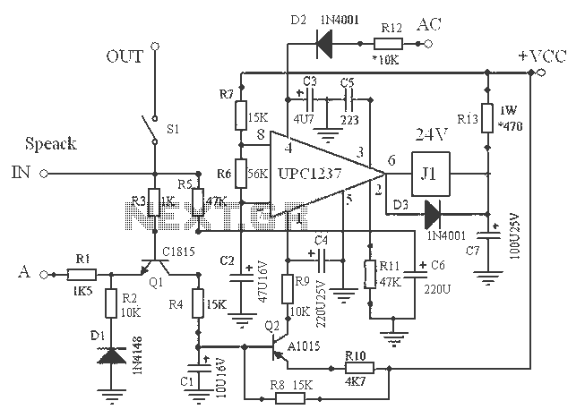 upc1237 speaker protection schematic under other circuits