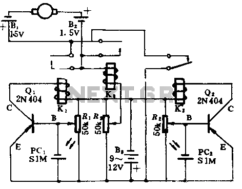 Flashlight circuit diagram of a motor control model - schematic