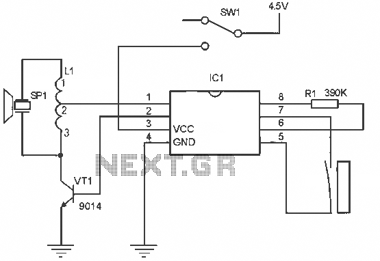 Menci alarm produced schematic circuit diagram - schematic