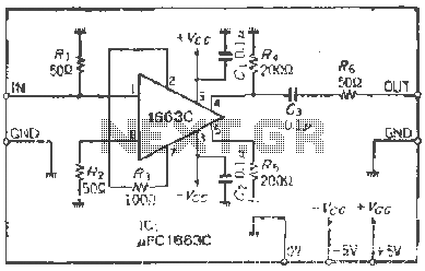 Use upC1663 broadband amplifier - schematic