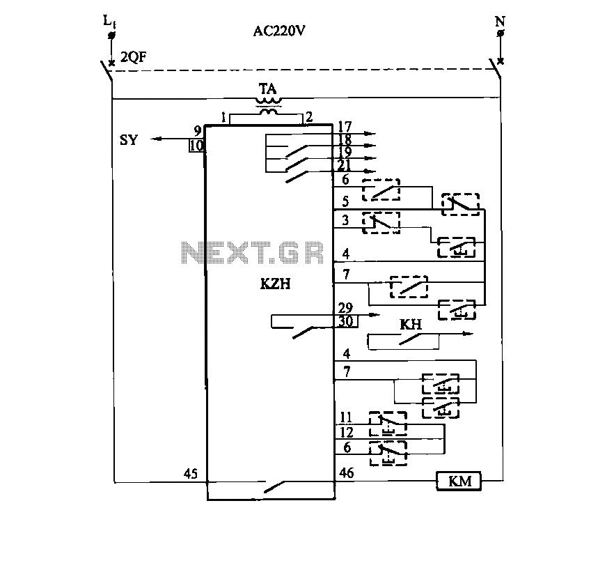 SHD1006 type single positive pressure blower total pressure circuit - schematic