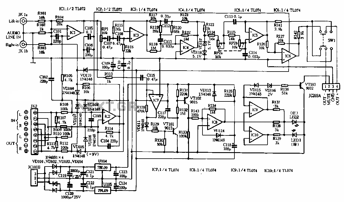 Functional subwoofer amplifier circuit