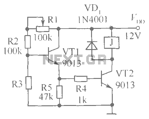 Circuit diagram of brightness control relay - schematic