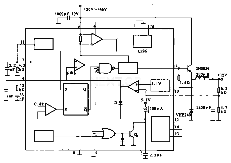 Output 12V-10A power circuit - schematic