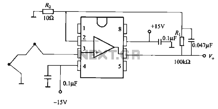 thermocouple amplifier gain circuit under thermometer