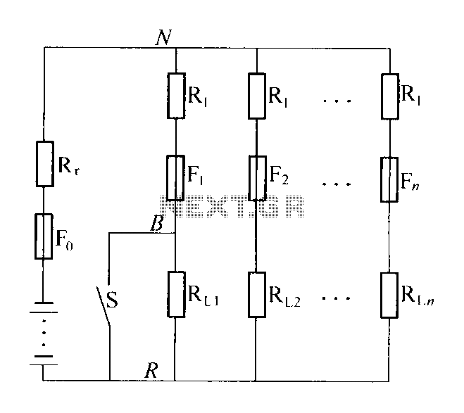 High resistance distribution circuit - schematic