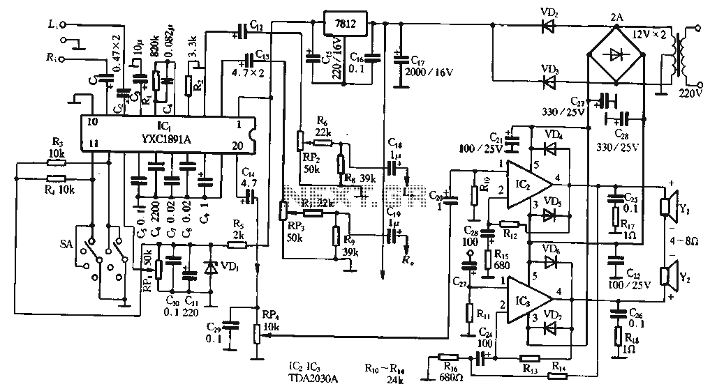 uPC1891 application circuit - schematic
