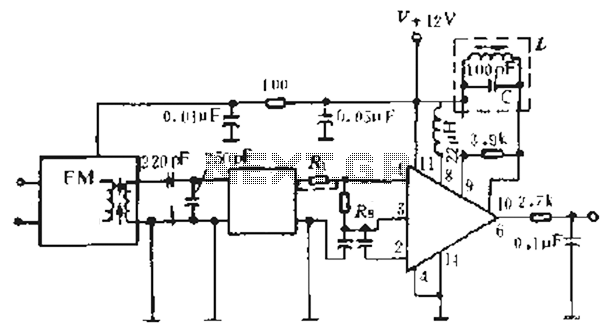 Using a single resonant frequency detection coil FM tuner circuit diagram - schematic