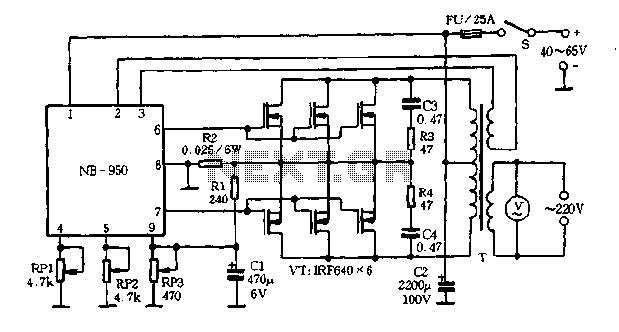 800VA inverter circuit diagram - schematic