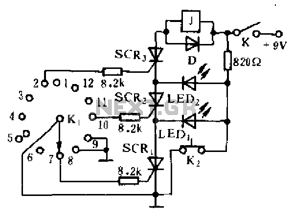 Simple Electronic Combination Lock Circuit Diagram
