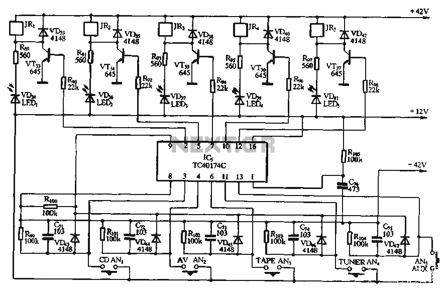 Input switching circuit - schematic