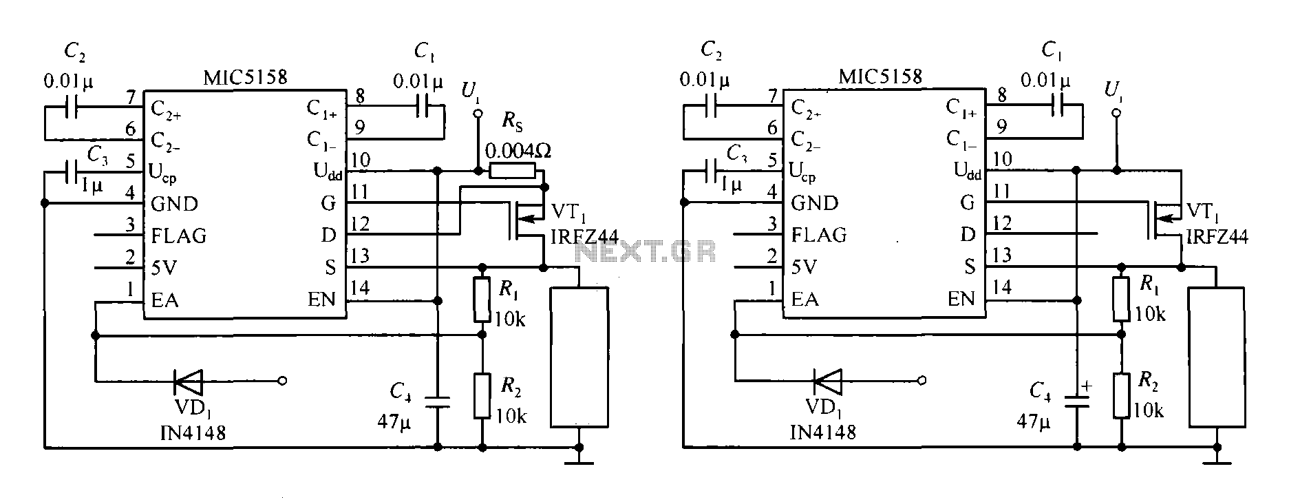 Switching Circuit Page 3 Other Circuits Inverter 4 Power Supply Nextgr A Diagram Of High Speed Switch Constituted Triggered Rising Mic5158