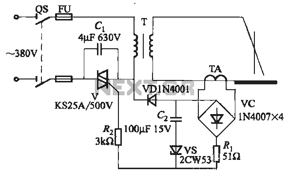 SCR AC arc welding machine load path from one power outage circuit - schematic
