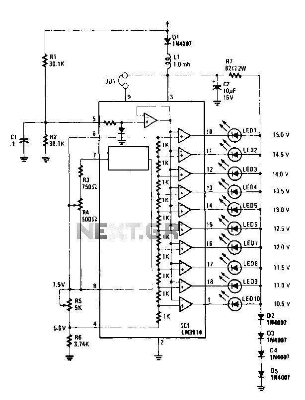 voltmeter circuit page 2   meter counter circuits    next gr