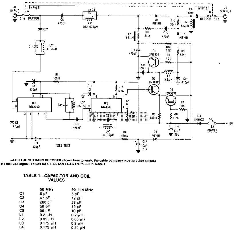 Band decoder circuit diagram - schematic