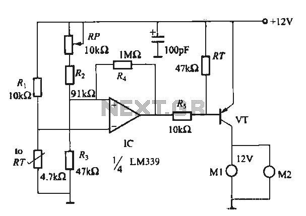 Host computer automatic temperature control circuit - schematic