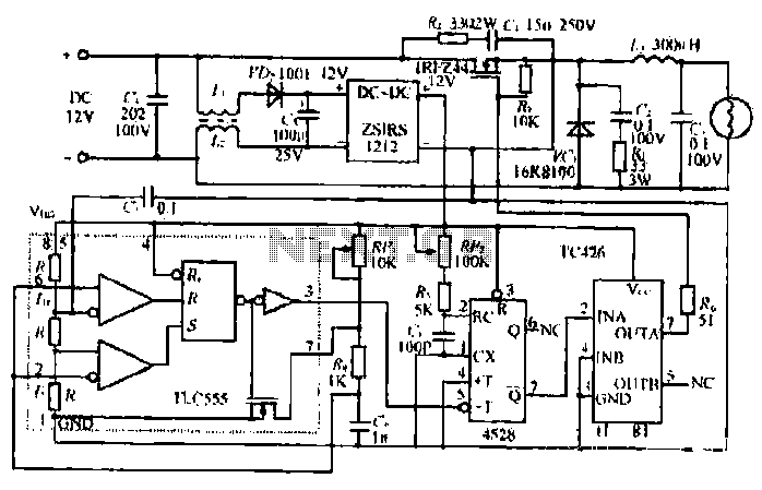 Car lights dimming circuit - schematic