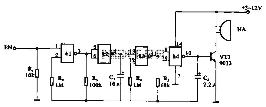 Tone generator circuit - schematic