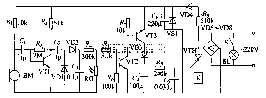 Voice remote control switch circuit - schematic