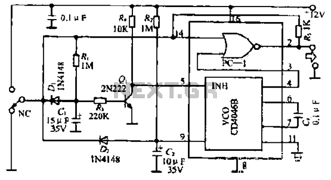 Rapid control circuit of a stepping motor - schematic