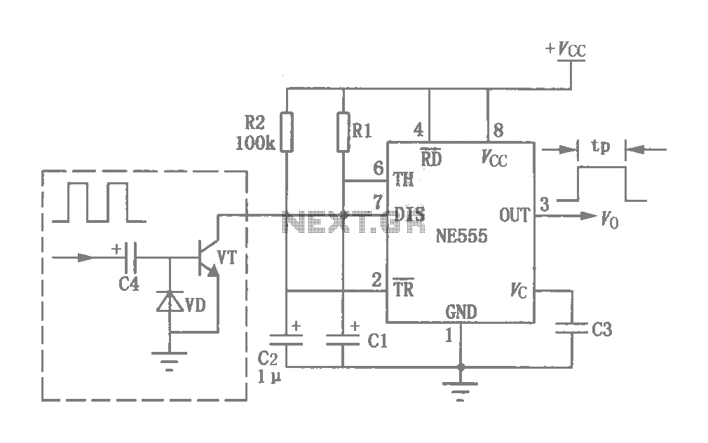 555 Composition with Watchdog circuit - schematic