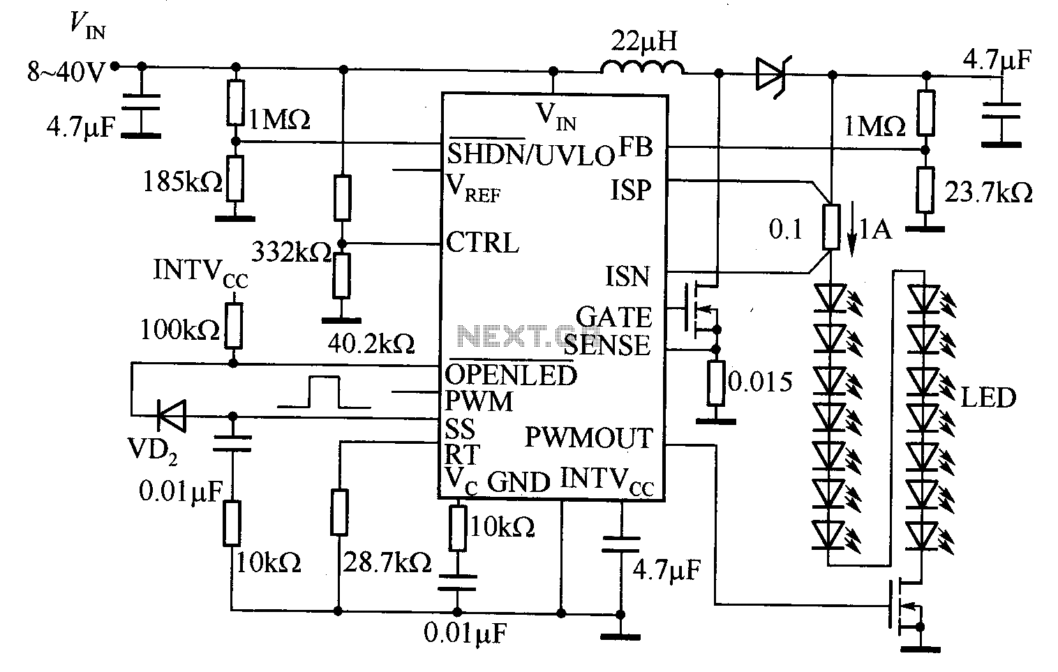 Led Circuit Page 2 Light Laser Circuits Repo Projects 5 555and4017ledchasercircuit Images 4017png Based On The Lt3755 50w White Headlight Drive Diagram