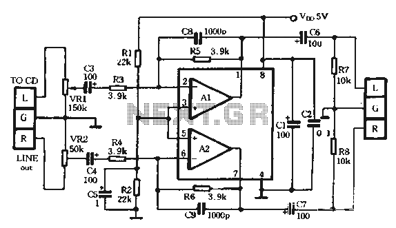 Headphone Amplifier Schematic 5v Get Free Image About