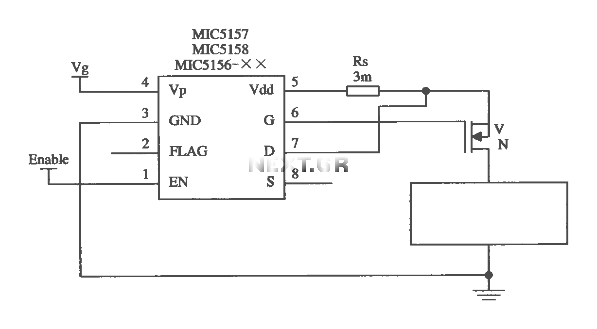 MIC5156- composed triggered rising high current switching circuit - schematic