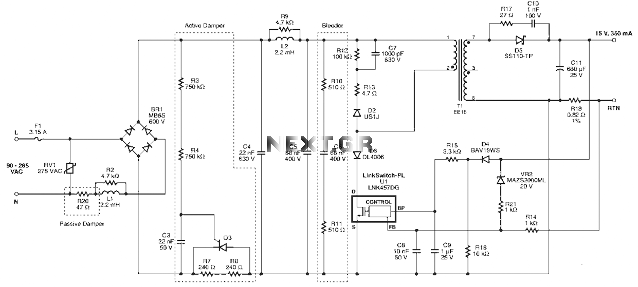 100w led driver circuit diagram