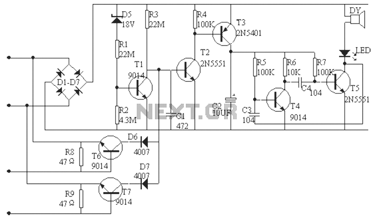 telephone line burglar alarm circuit diagram under alarm