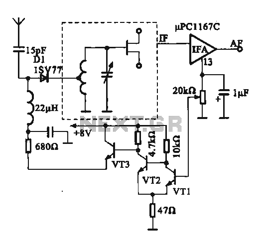 FM modulator strong - weak signal switching circuit - schematic
