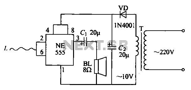 Manpower sensing alarm circuit - schematic
