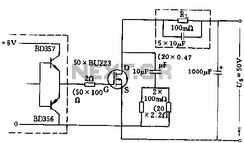 500A power switch control circuit diagram - schematic