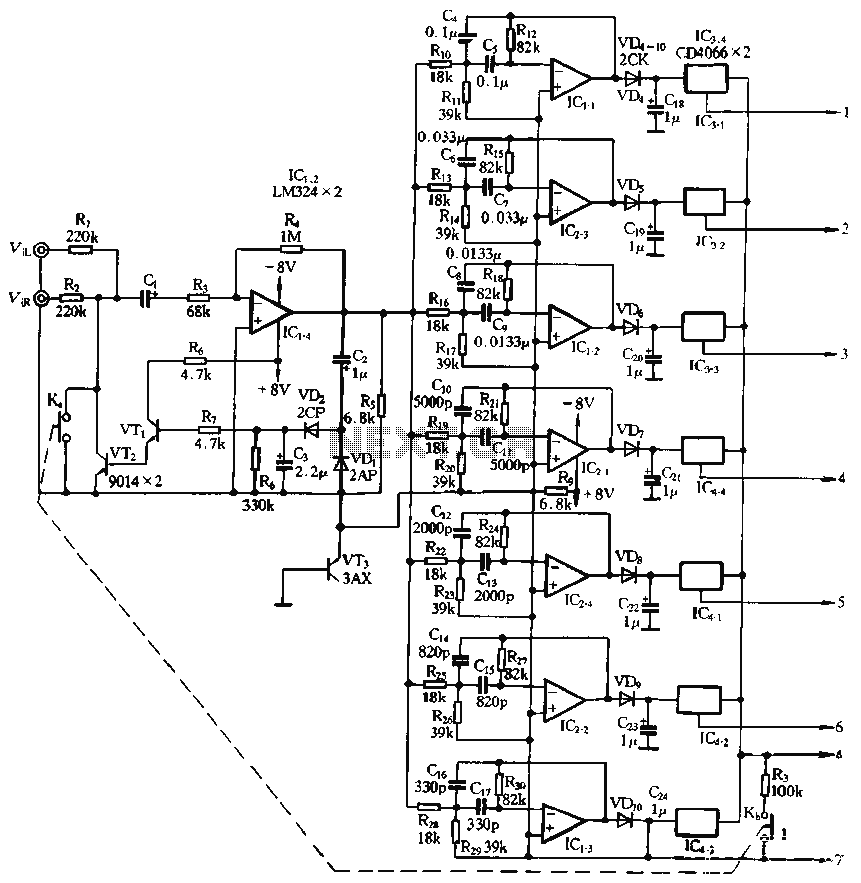 Spectrum monitor with memory function circuit - schematic