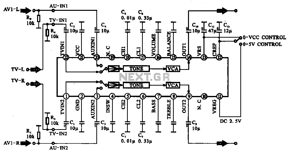 u0026gt  audio  u0026gt  audio signal control circuit l57896