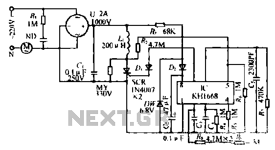 Touch a fan speed control circuit