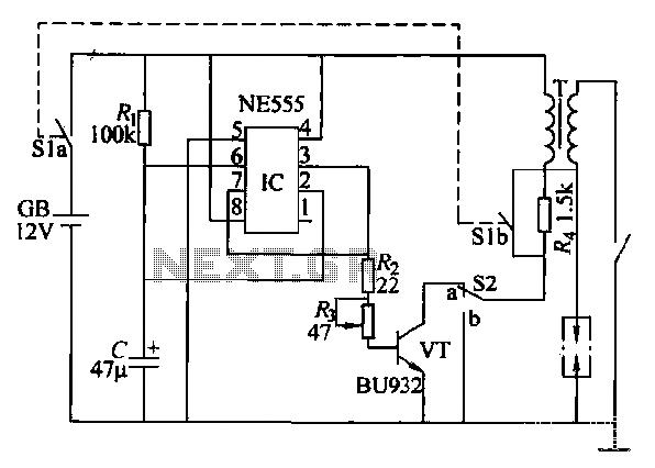 Car anti-theft alarm circuit - schematic