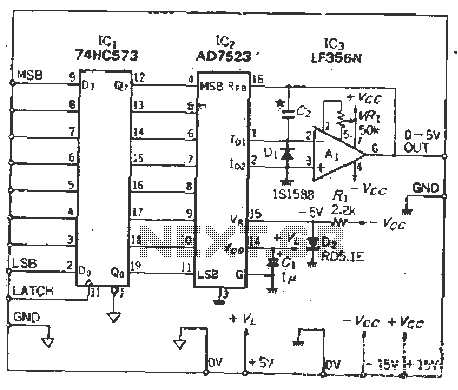 Multiplicative DA converter IC inexpensive 8 DA circuit - schematic
