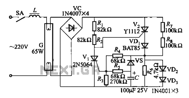 fluorescent lamp electronic ballast circuit under fluorescent circuits
