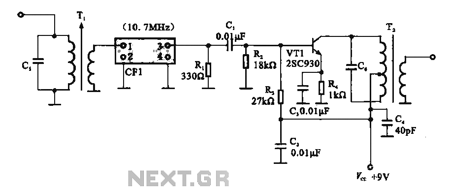 Fm If Amplifier Circuit Composed Of Ceramic Filters Under