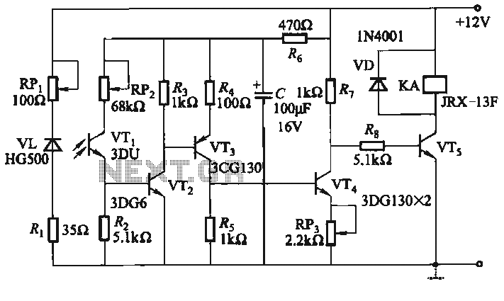 One infrared burglar alarm circuit - schematic