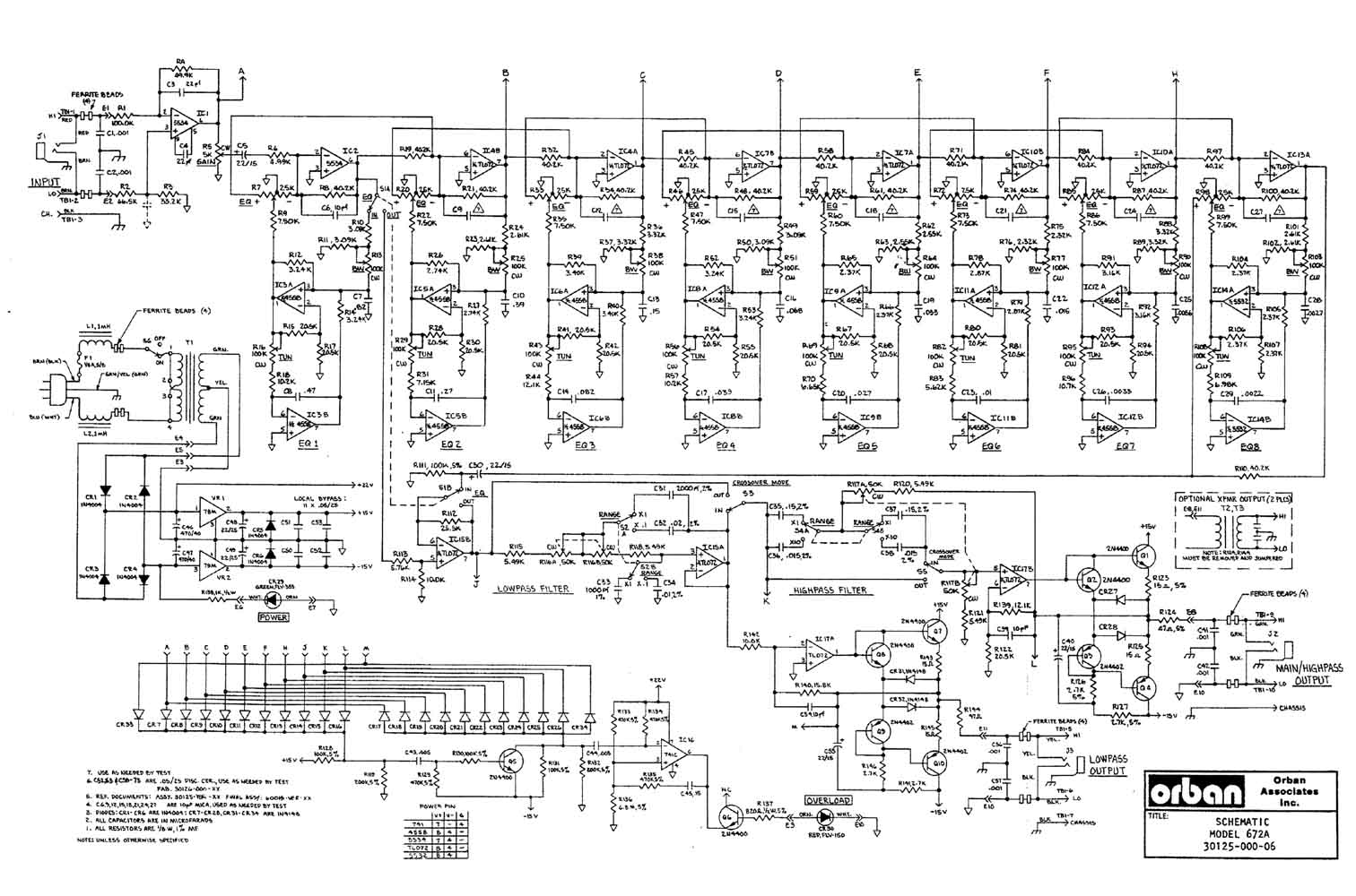 Graphic Equalizer - schematic