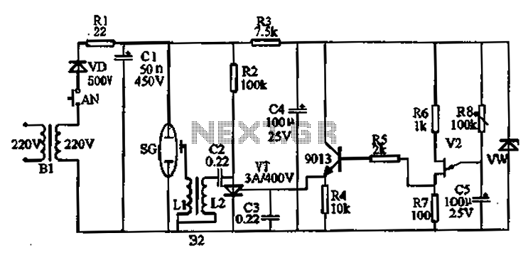 Flash doorbell circuit - schematic