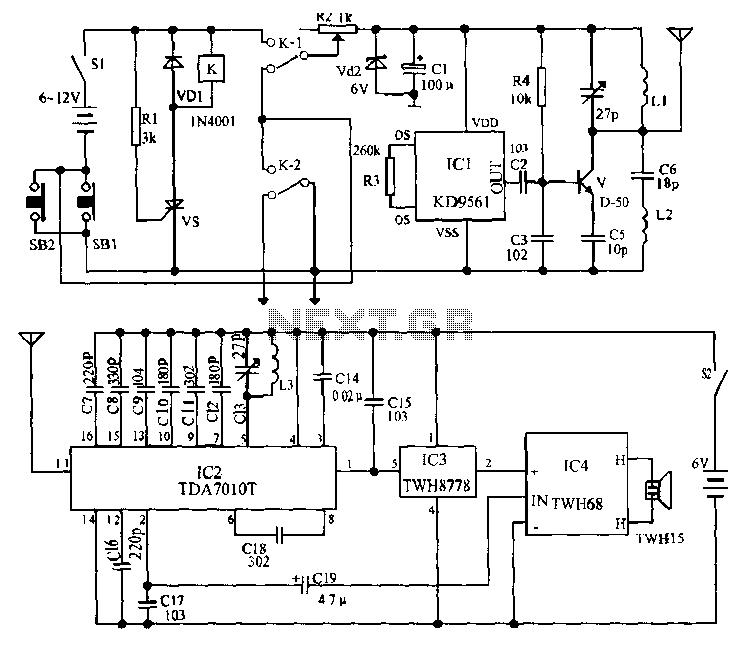 car alarm circuit   automotive circuits    next gr