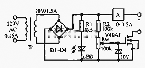 Rectifier current circuit - schematic