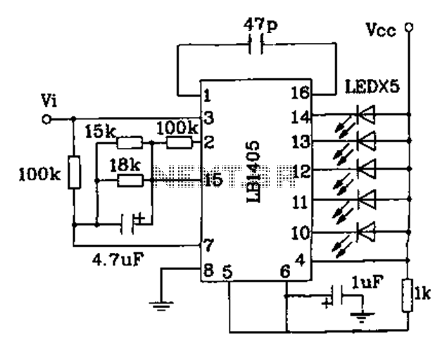 led indication integrated circuits under led circuits
