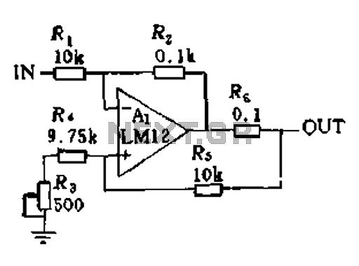 Power operational amplifier integrated circuit - schematic