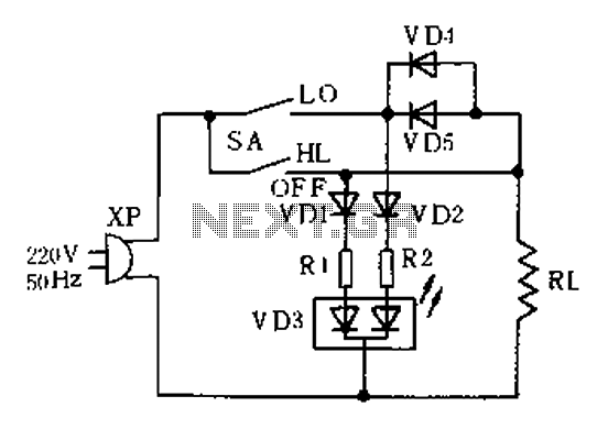 Electronic thermostat circuit - schematic