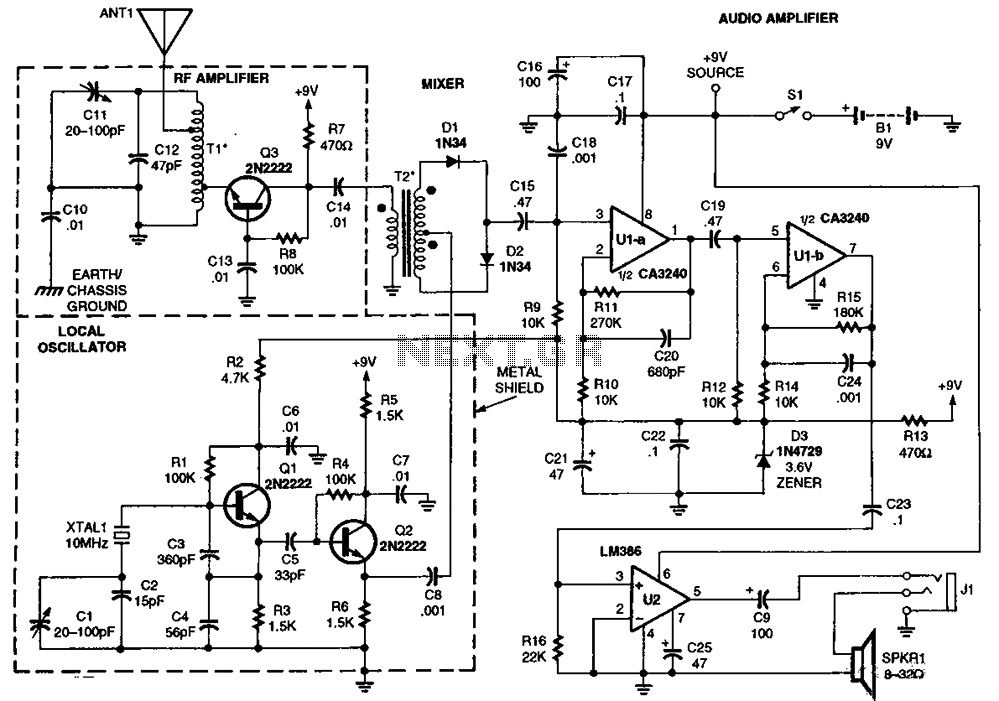 wwv receiver circuit under rf receiver circuits