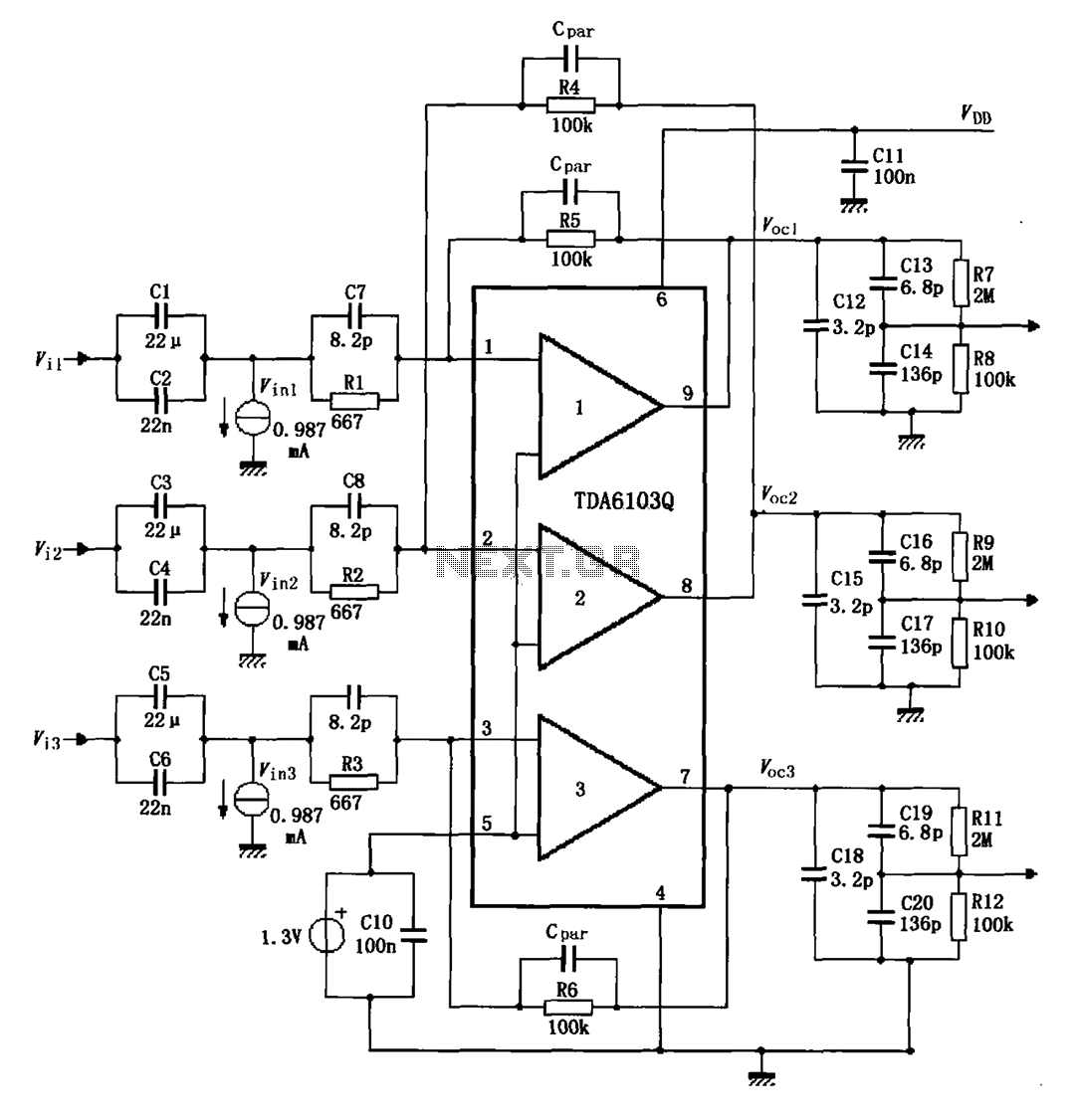 TDA6103Q having a feedback factor of the test circuit